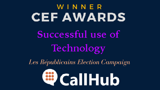 CEF award - CallHub wins award for Successful use of Technology