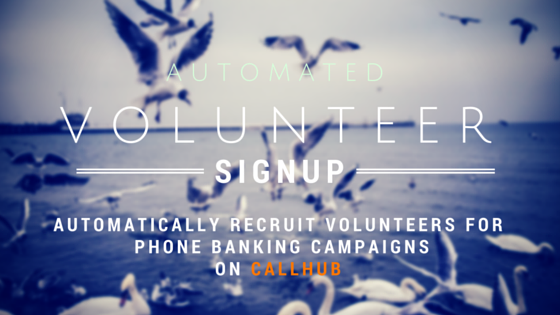 Sign up volunteers through web form