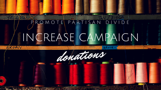 How partisan divide could increase campaign donations