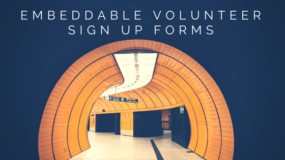Embeddable sign up forms