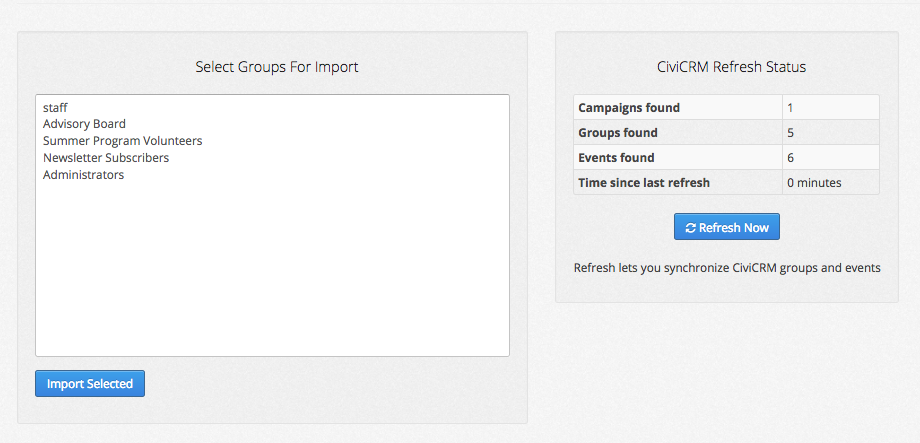civicrm import groups