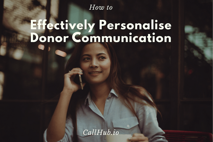 how to personalise conversations with donors