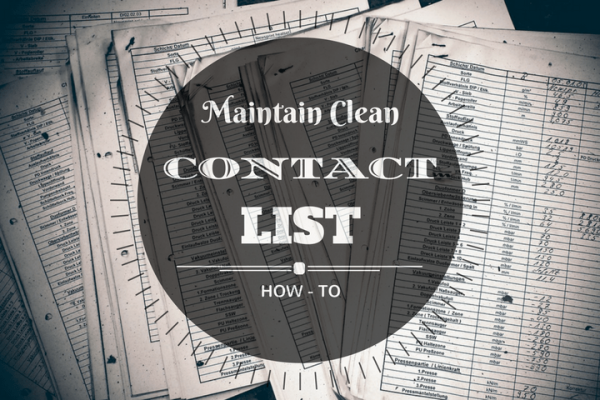 maintain healthy contact list