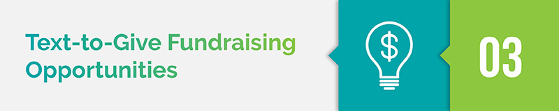 text-to-give fundraising opportunities