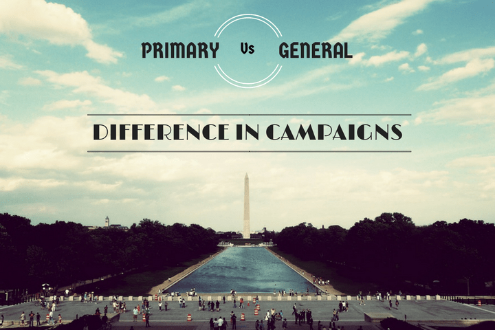 How US Presidential campaigns change between the Primary Vs the General Election