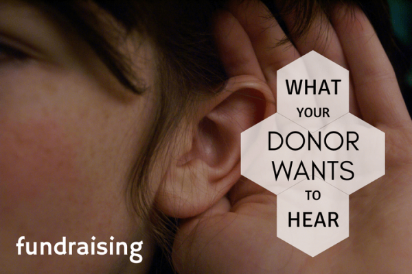 what to say to your donor