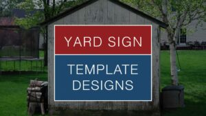 yard sign template design