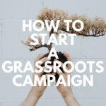 how to start a grassroots campaign