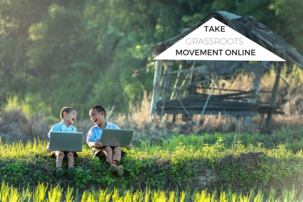 online presence for grassroots movement