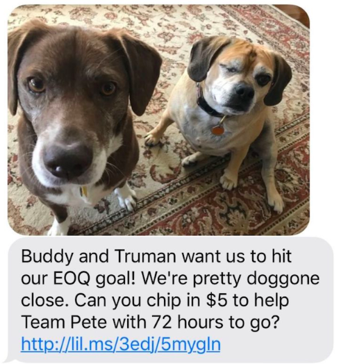 political-fundraising-pete-text