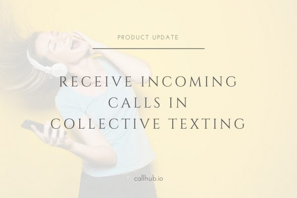receive incoming calls in collective texting
