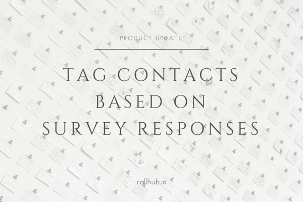 tag contacts based on survey responses
