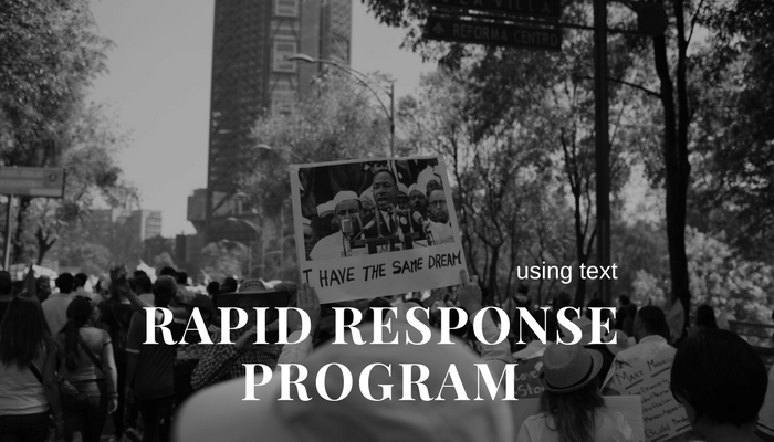 rapid response program with text