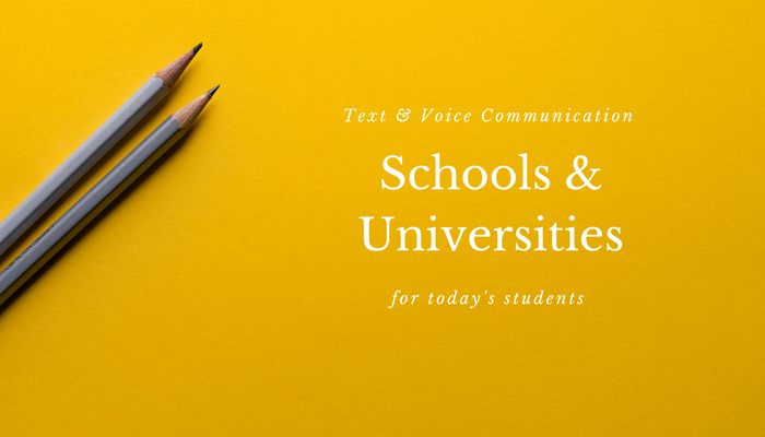 voice and text communication service for school, universities and online academies