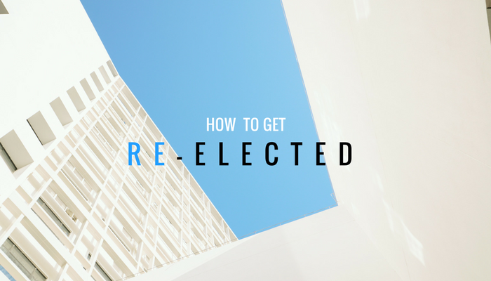 how to get re-elected as an incumbent