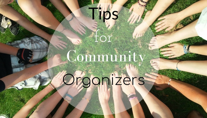 Tips for community organizers