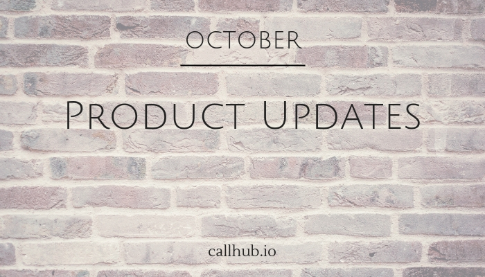 october product updates