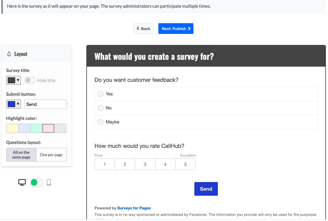 market research tools facebook survey