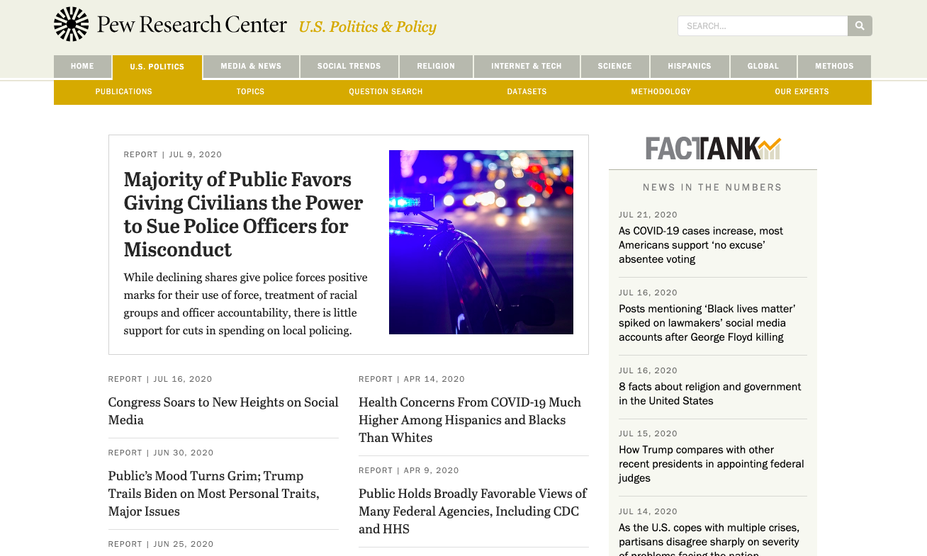 market research tools pew research center