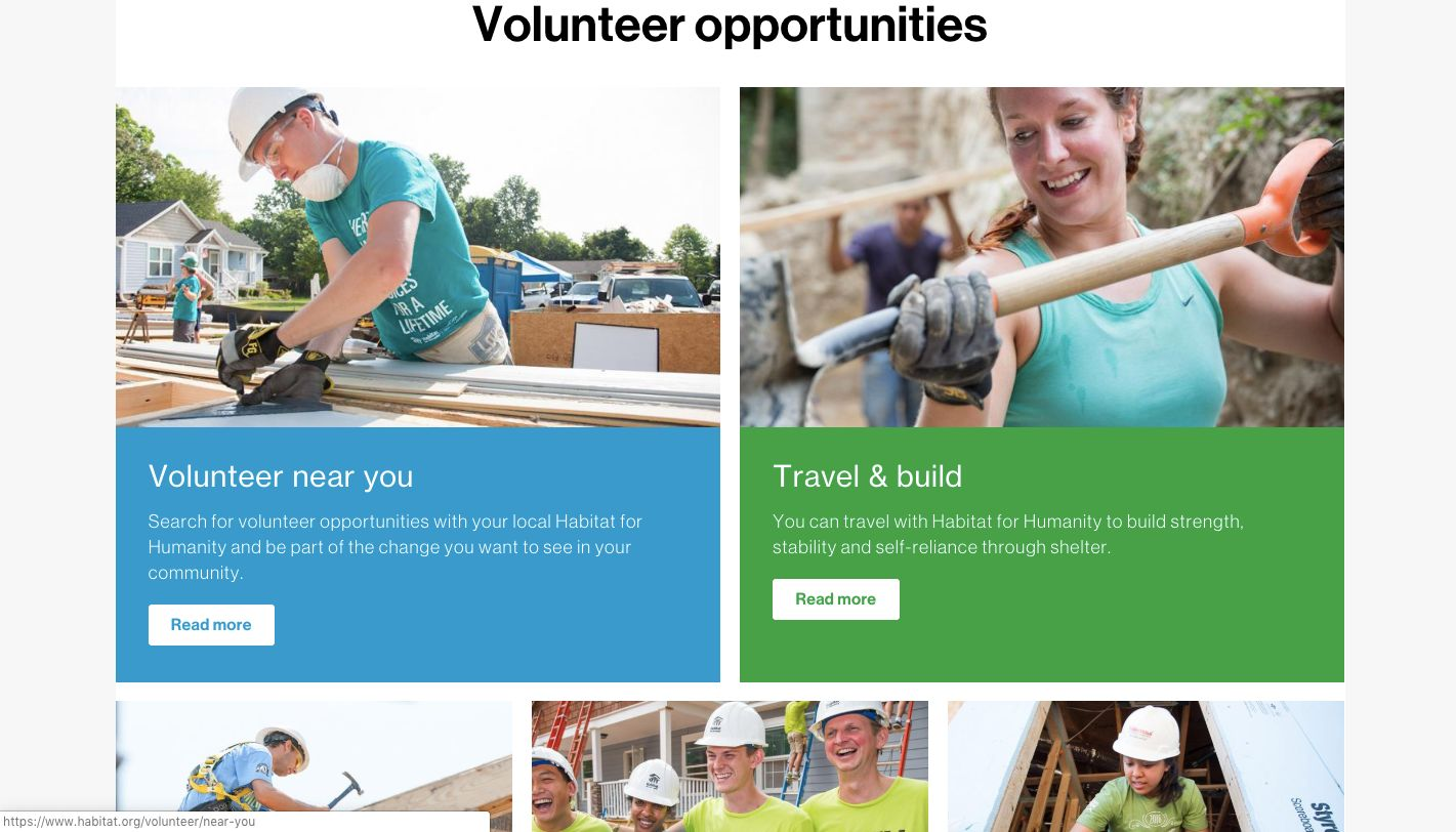 Recruiting Volunteers for Nonprofits_Habitat for Humanity Screenshot2
