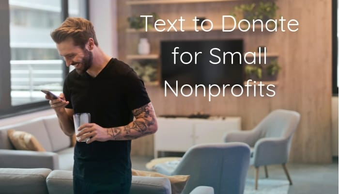 Text to donate small nonprofits header