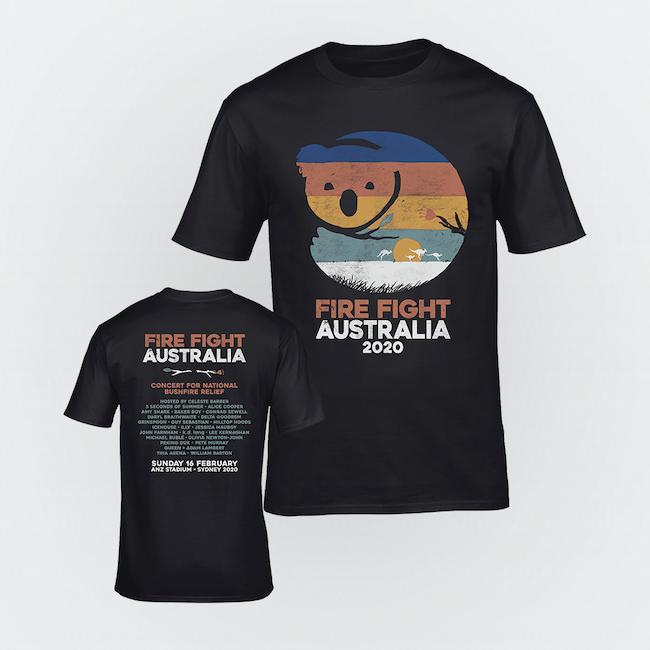 Australia bushfire charity tshirt-fundraising