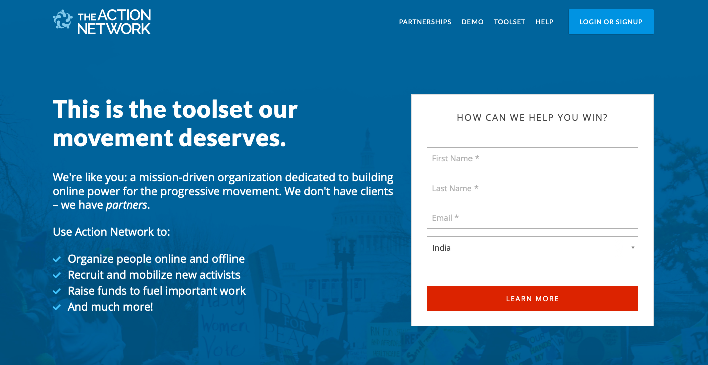 nonprofit marketing tools - Action Network