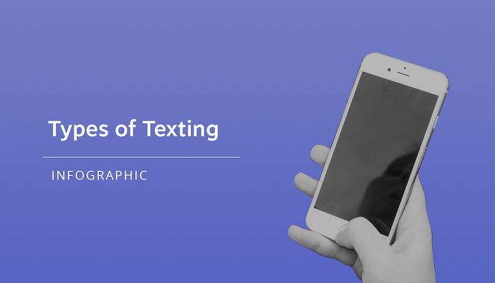 types of texting infographic