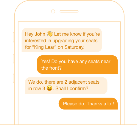 peer to peer texting ticket purchase