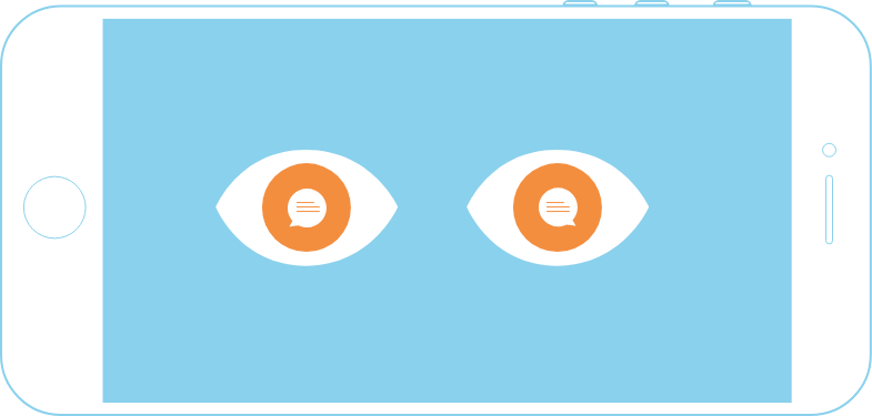 sms marketing eyes phone