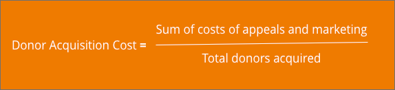 donor-acquisition-cost-formula