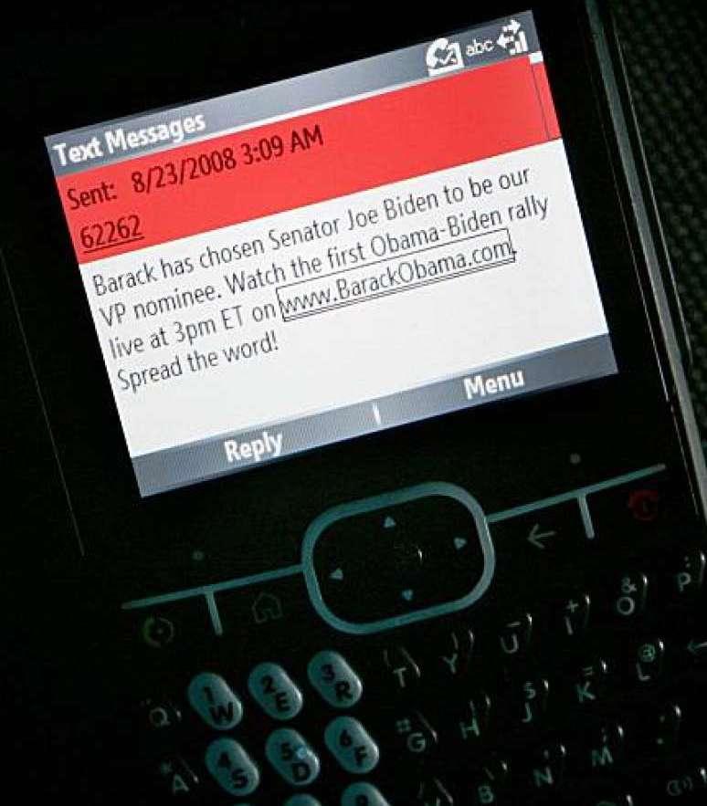 Barack mass texting example