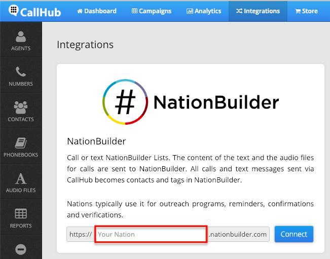 CallHub NationBuilder integration