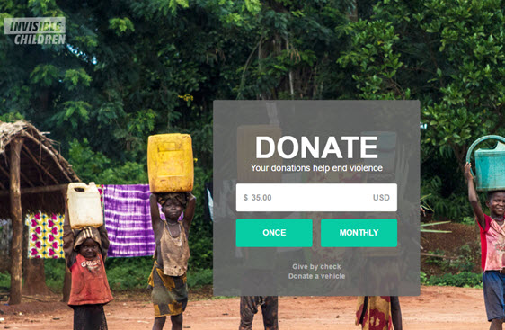 Easy monthly donation process for small donor retention