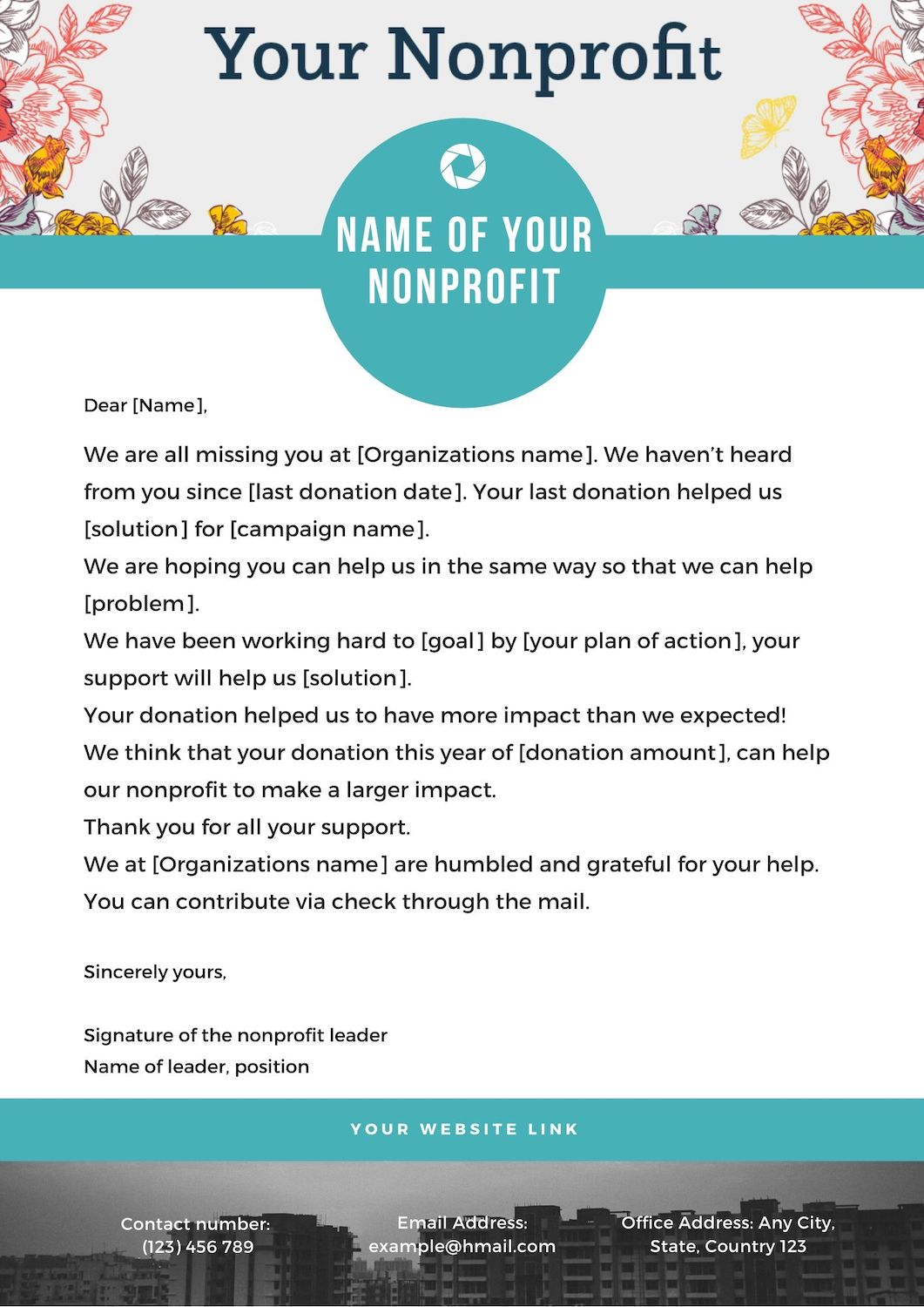 Lapsed donor letter template