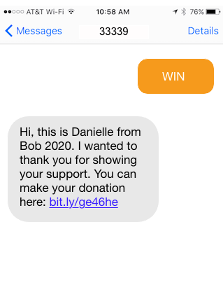 SMS opt-in fundraising