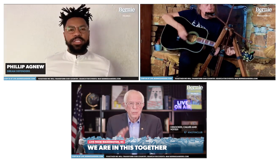 Bernie Sanders Virtual Rally