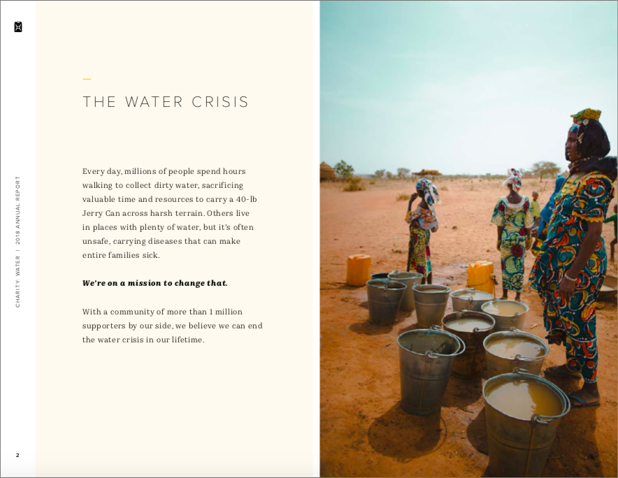 Charity Water - Annual Report Example