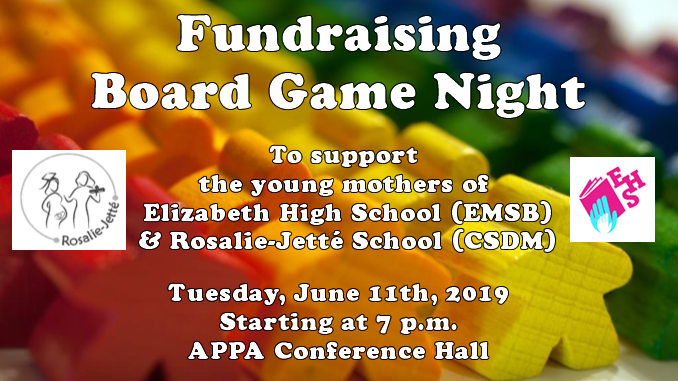 Game night fundraiser poster