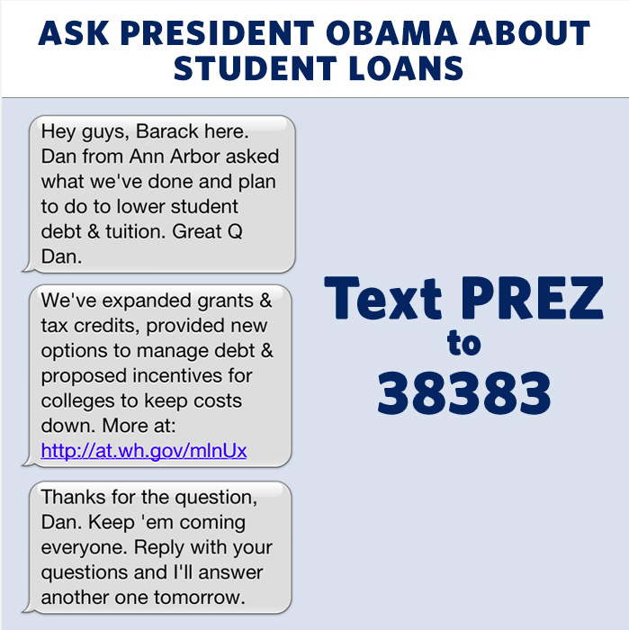 Political Marketing - Texting with Obama