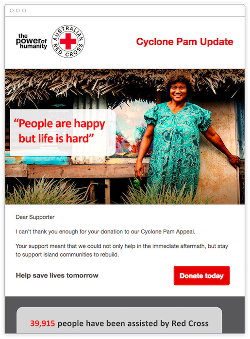 Promoting fundraising with email