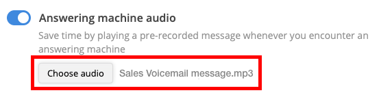 Activate voicemail drop