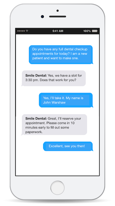 Making appointment through text