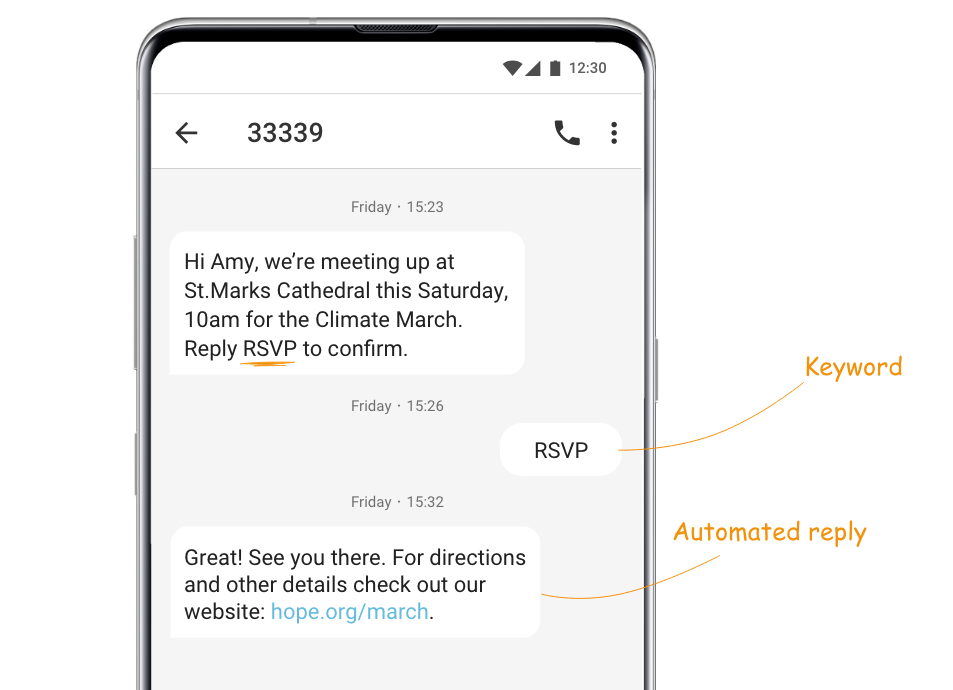rsvp-automated-text