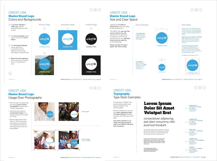 UNICEF branding guidelines