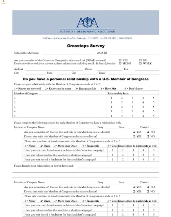 grasstops-advocacy-survey
