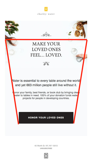 Email button call to action