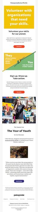 Multiple CTA newsletter