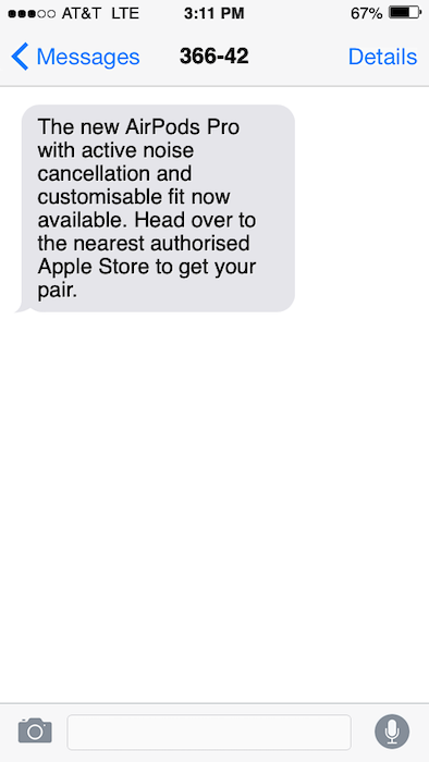 Product launch text