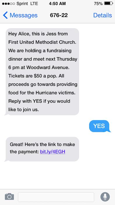 fundraising texts